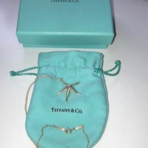 Tiffany and Co. Starfish silver necklace
